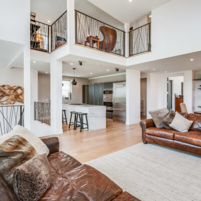 Living, kitchen, dining and mezzanine