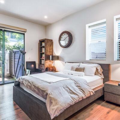 Ground level guest bedroom