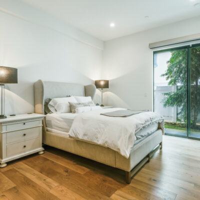 Beautiful ground floor bedroom with slider to the patio